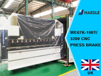 UK-WE67K-100T/3200 CNC Press brake with DA69T, 8+1 Axis