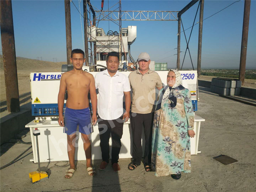 HARSLE Door embossing machine in Uzbekistan (1)