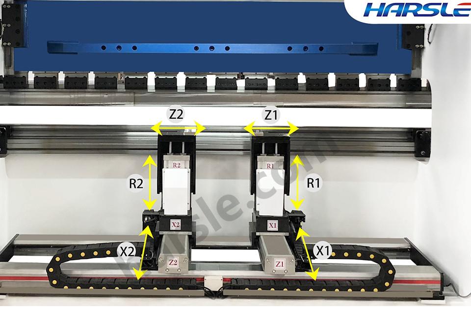 6 Axis Cnc Presske Machine Backgauge X1x2r1r2z1z2 Bending Machine Axis