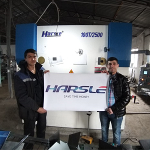 Hydraulic Press Brake and Shearing Machine for Uzbekistan customer, HARSLE's feedback