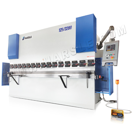 WC67K hydraulic press brake machine with manual crowning table
